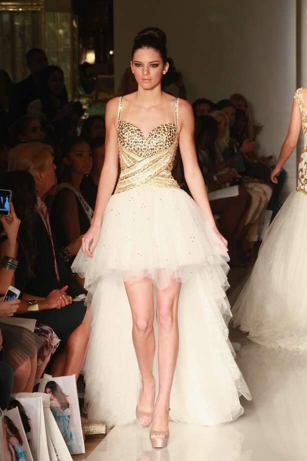 fbccfa32bd Kendall Jenner walks the runway during the Evening Sherri Hill spring 2013  fashion show during Mercedes