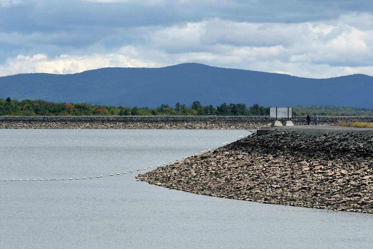 View of the upper reservoir for the New York Power Authority Blenheim-Gilboa Storage Power Project on Friday, Sept. 8, 2017, in Schoharie County, N.Y. (Will Waldron/Times Union)