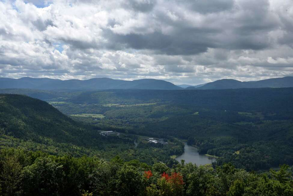 View of the Schoharie Valley from the upper reservoir at the New York Power Authority Blenheim-Gilboa Storage Power Project on Friday, Sept. 8, 2017, in Schoharie County, N.Y. (Will Waldron/Times Union)