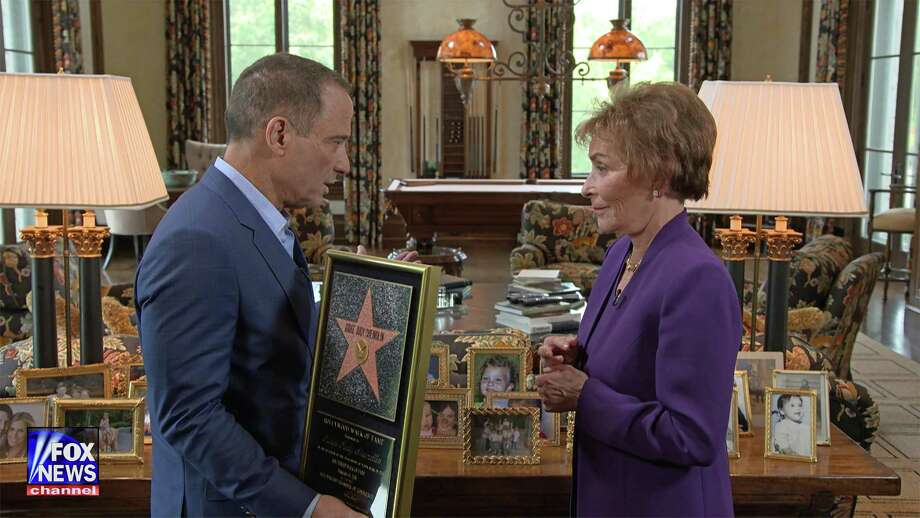 "Judge Judy Sheindlin and TMZ's Harvey Levin at her Greenwich home on FOX New Channel's new series ""OBJECTified"" which premieres Sunday, Sept. 17 at 8 p.m. Photo: Fox News/Contributed Photo"