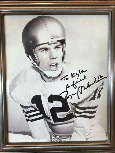 A portrait gifted from Cowboys legend Roger Staubach to UH quarterback Kyle Allen. Photo: Allen Family