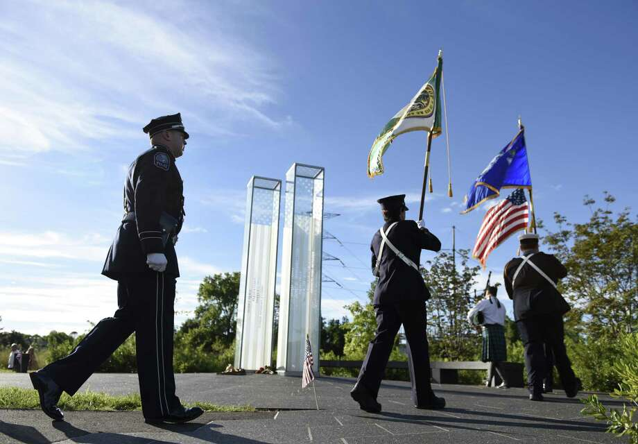 Greenwich's annual Sept. 11 memorial ceremony is scheduled for 5 p.m. Monday. Photo: Tyler Sizemore / Hearst Connecticut Media / Greenwich Time