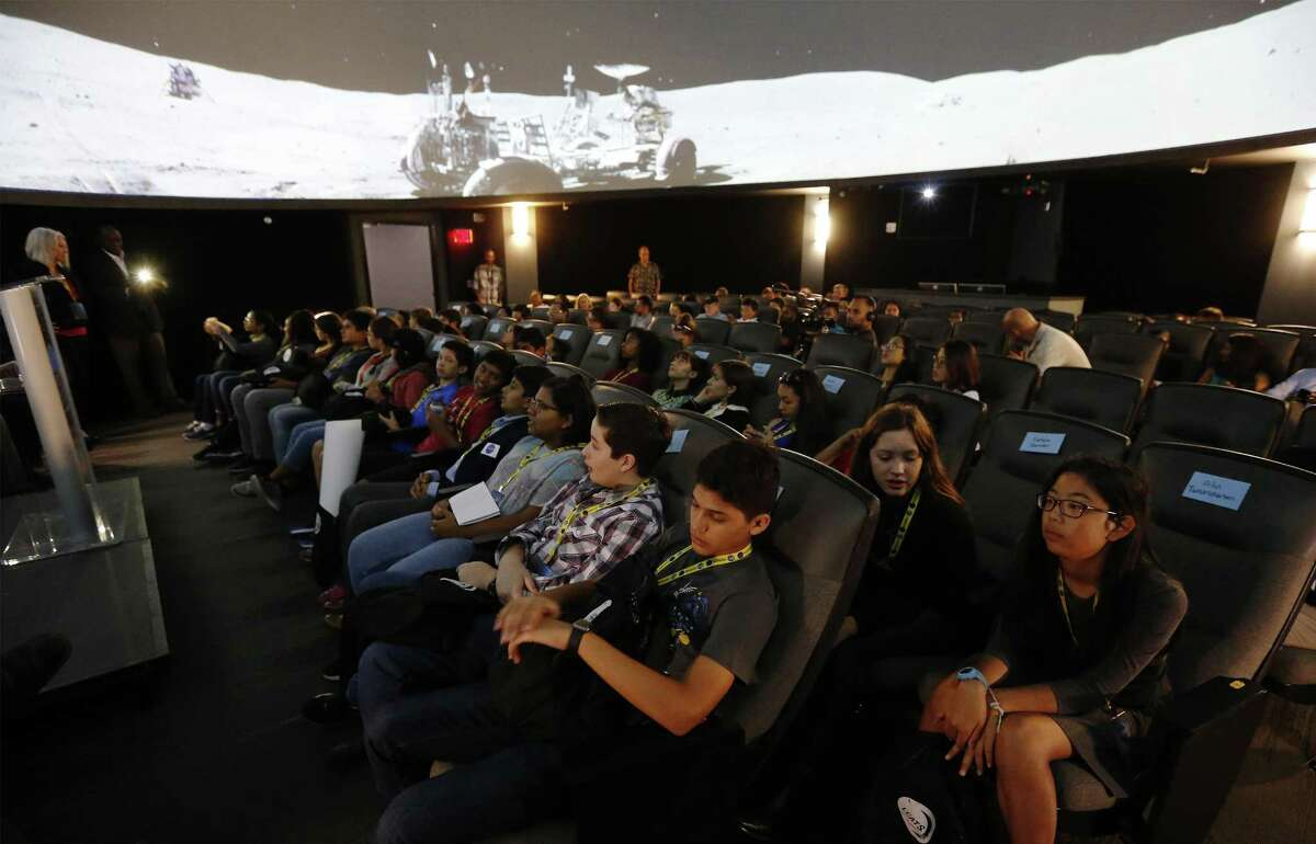 Thirty area middle and high school students attend the first Lunar Caves Analog Test Sites (LCATS) program at Scobee Education Center on Saturday, Sept. 9, 2017. The program takes place outside of school; students meet on Saturdays to study various aspects of human space exploration.