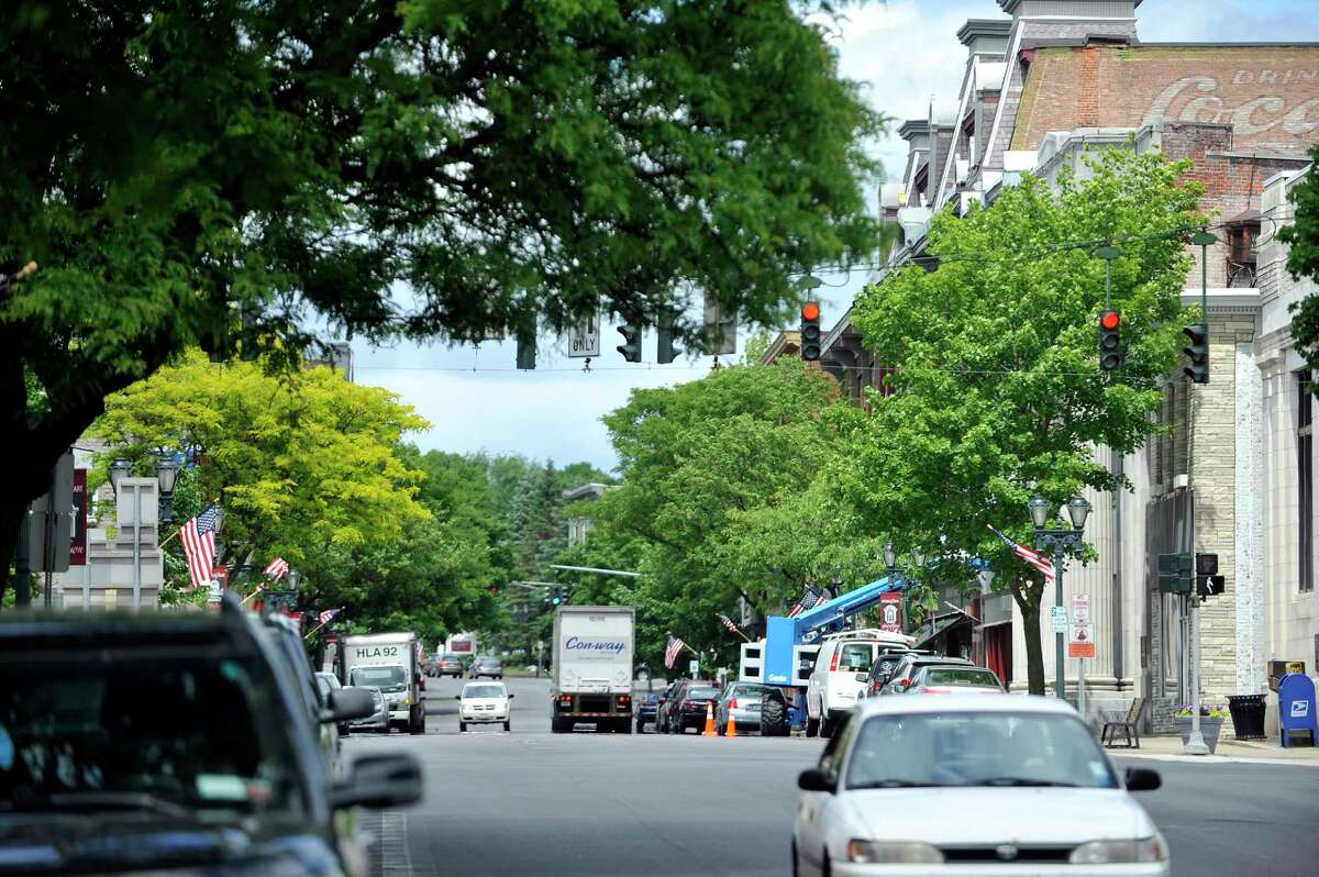 A view of downtown area on Thursday, June 9, 2016, in Gloversville, N.Y. (Paul Buckowski / Times Union)