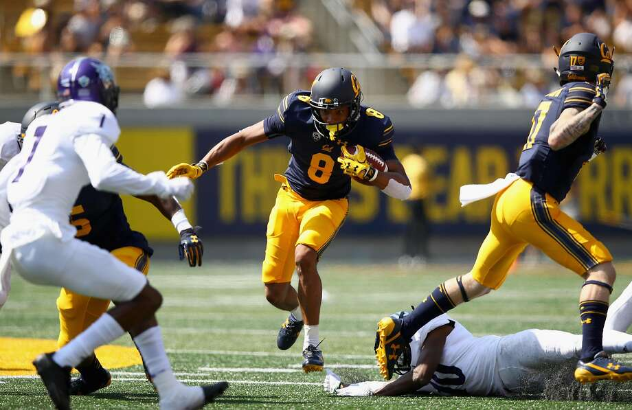 BERKELEY, CA - SEPTEMBER 09:  Demetris Robertson #8 of the California Golden Bears runs with the ball against the Weber State Wildcats at California Memorial Stadium on September 9, 2017 in Berkeley, California.  (Photo by Ezra Shaw/Getty Images) Photo: Ezra Shaw, Getty Images