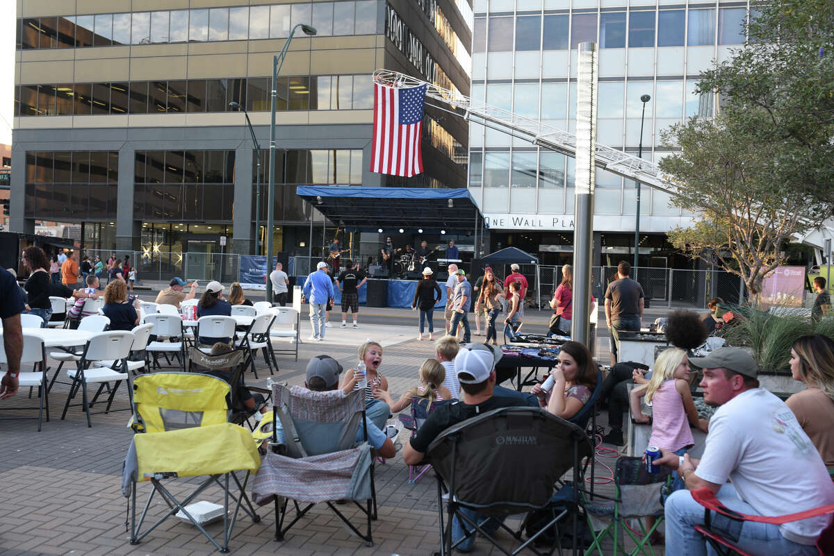 9/11 memorial charity concert featuring Bob Schneider on Sept. 9, 2017, at the Bank of America Plaza downtown. James Durbin/Reporter-Telegram