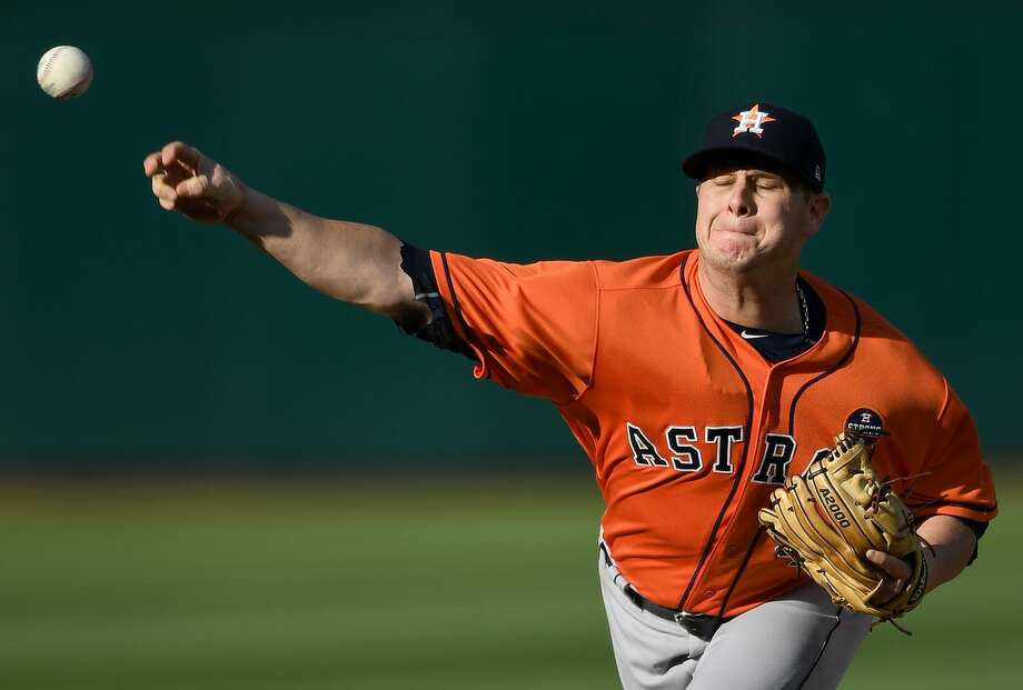 Brad Peacock will start on Thursday in place of Collin McHugh, who is being given more time for his right middle fingernail to heal. Photo: Thearon W. Henderson/Getty Images