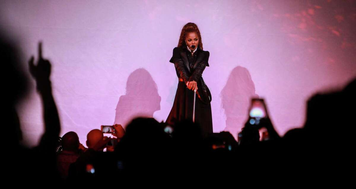 """Janet Jackson during her """"State of the World"""" tour at Toyota Center. (For the Chronicle/Gary Fountain, September 9, 2017)"""
