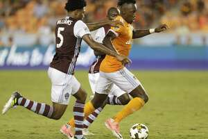 9/9/17:  in the second half in a MLS game at BBVA stadium in Houston, TX. Colorado Rapids won 1 to 0.