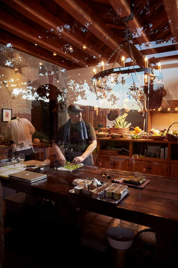 Josh Skenes cooks a dinner at his Sonoma ranch. Photo: John Lee, Special To The Chronicle