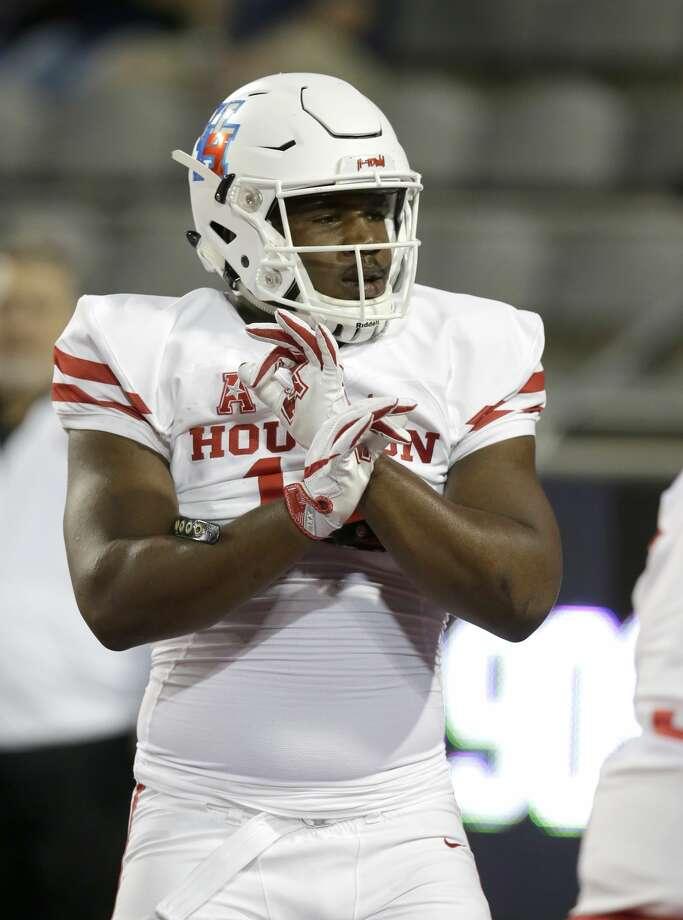 Houston defensive tackle Ed Oliver (10) before an NCAA college football game against Arizona, Saturday, Sept. 9, 2017, in Tucson, Ariz. (AP Photo/Rick Scuteri) Photo: Rick Scuteri/Associated Press