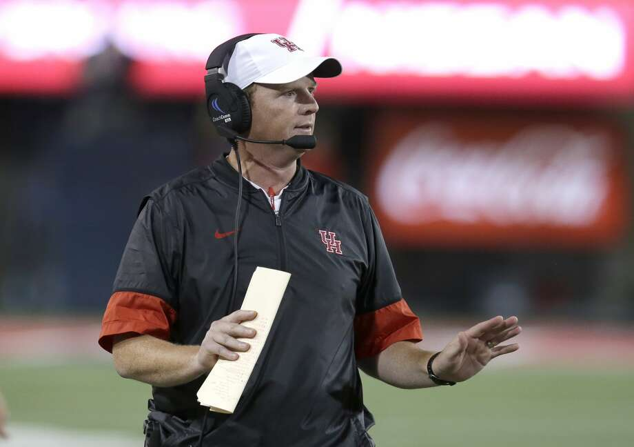 Houston head coach Major Applewhite in the first half during an NCAA college football game against Arizona, Saturday, Sept. 9, 2017, in Tucson, Ariz. (AP Photo/Rick Scuteri) Photo: Rick Scuteri/Associated Press