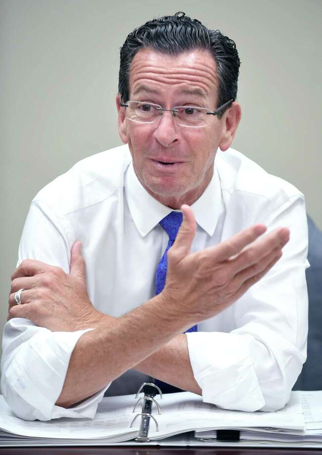 Gov. Dannel P. Malloy sits in for a Hearst Connecticut Editorial Board session. Photo: Arnold Gold / Hearst Connecticut Media / New Haven Register