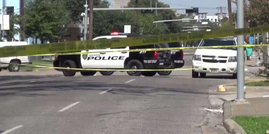 Two men were wounded in a shooting near a downtown Texaco. Photo: Metro Video