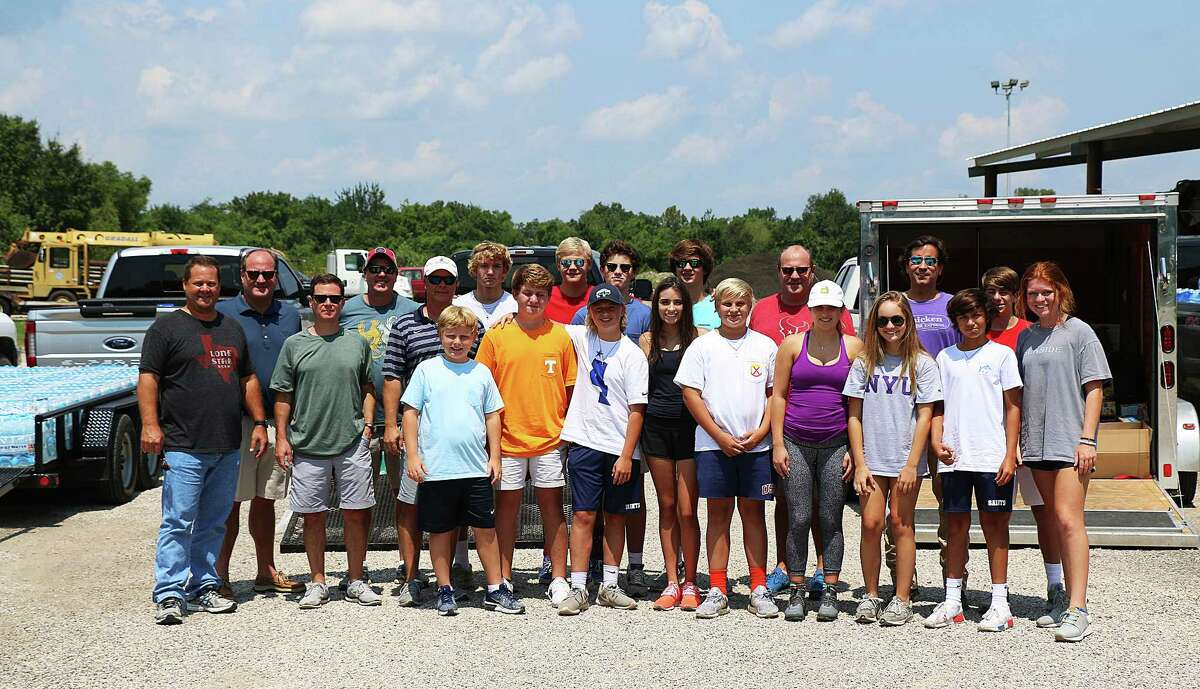 The group of parents and students from Fort Worth traveled to Dayton to help flood victims here. The donations were arranged by Bob Edwards, his son Andy, and his best friend Kyle Poulson.