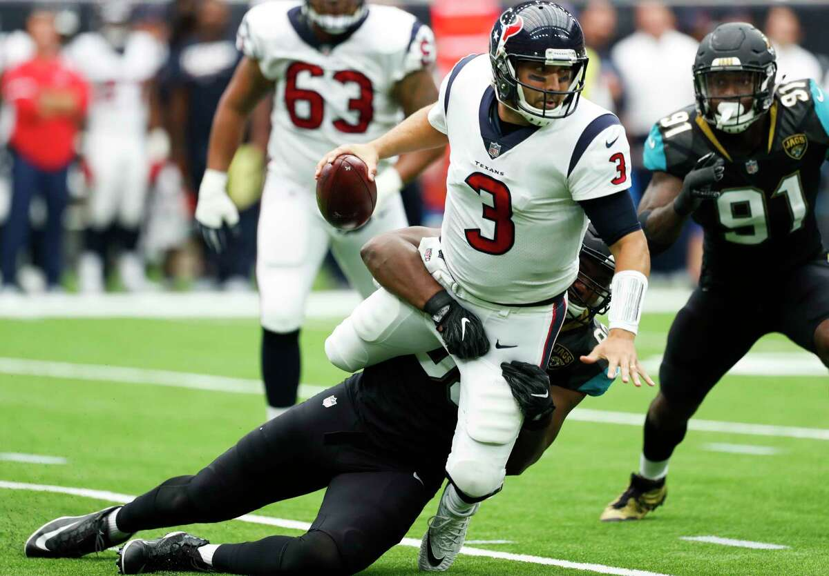 John McClain's grades for the Texans in their 29-7 loss to the Jaguars. QUARTERBACK Tom Savage had bad protection, but when he got some, he held the ball too long and was benched. Deshaun Watson led the only scoring drive. Grade: F-minus