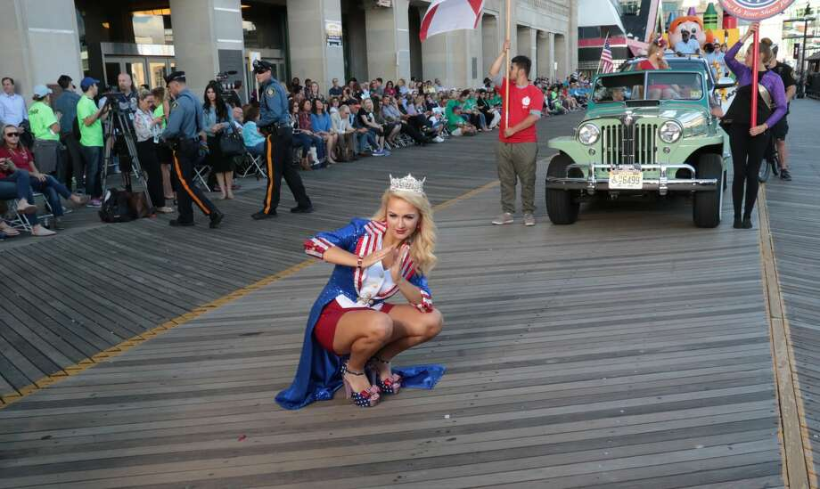 Miss America 2017 Savvy Shields opens up Miss America 2018 - Show Me Your Shoes Parade on September 9, 2017 in Atlantic City, New Jersey. Photo: Donald Kravitz/Getty Images For Dick Clark Productions