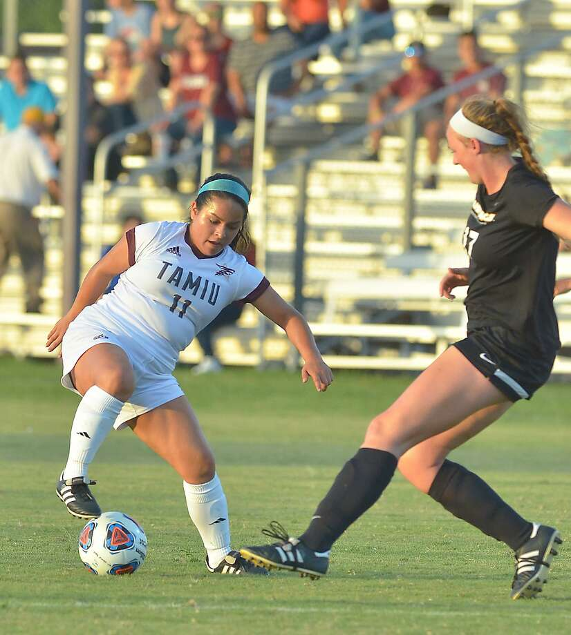 TAMIU forward Monica Castro was one of five players with a shot Saturday in the Dustdevils' 1-0 loss in double overtime at Rogers State. Photo: Cuate Santos /Laredo Morning Times File / Laredo Morning Times