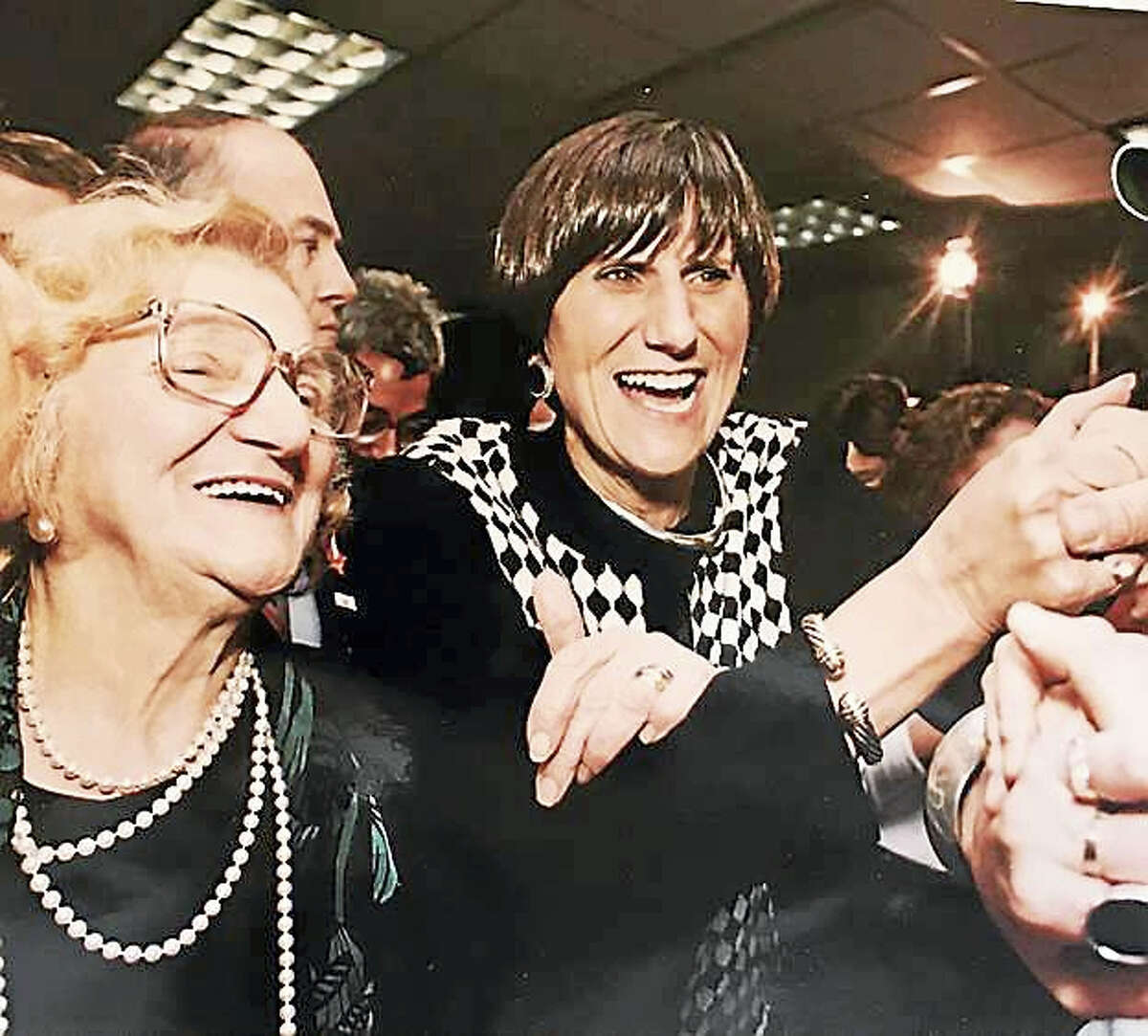 U.S. Rep. Rosa DeLauro, right, with her mother Luisa.