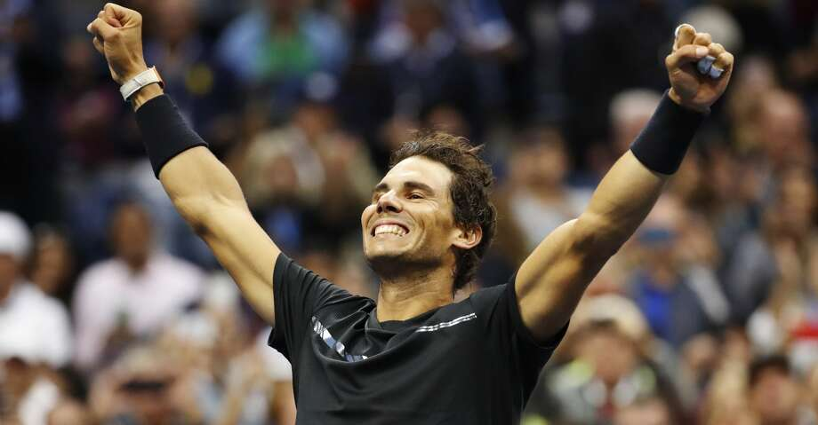 Rafael Nadal, of Spain, reacts after beating Kevin Anderson, of South Africa, to win the men's singles final of the U.S. Open tennis tournament, Sunday, Sept. 10, 2017, in New York. (AP Photo/Julio Cortez) Photo: Julio Cortez/Associated Press