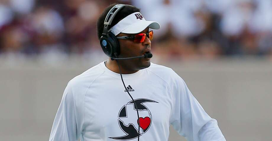 COLLEGE STATION, TX - SEPTEMBER 09:  Head coach Kevin Sumlin of the Texas A&M Aggies at Kyle Field on September 9, 2017 in College Station, Texas.  (Photo by Bob Levey/Getty Images) Photo: Bob Levey/Getty Images