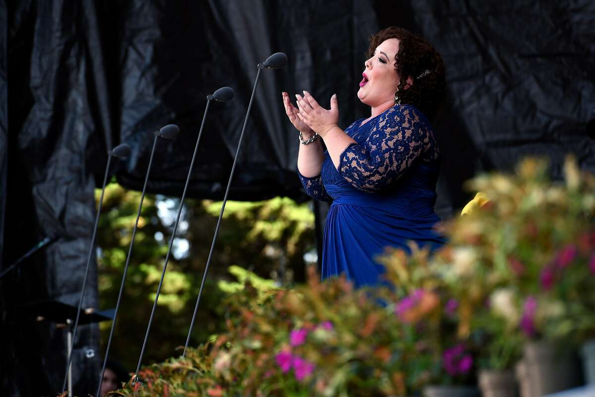 Toni Marie Paimertree sings during Opera in the Park in San Francisco, Calif., on Sunday September 10, 2017.