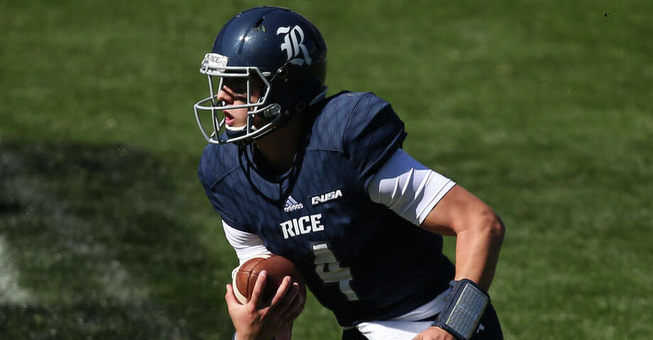 Rice freshman quarterback Sam Glaesmann is a player to watch in UH's next matchup against Rice on Saturday. Photo: Rick Rycroft/Associated Press
