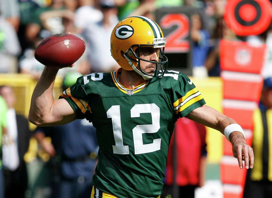 Green Bay Packers' Aaron Rodgers throws during the first half of an NFL football game against the Seattle Seahawks Sunday, Sept. 10, 2017, in Green Bay, Wis. (AP Photo/Mike Roemer) Photo: Mike Roemer, FRE / FR155603 AP