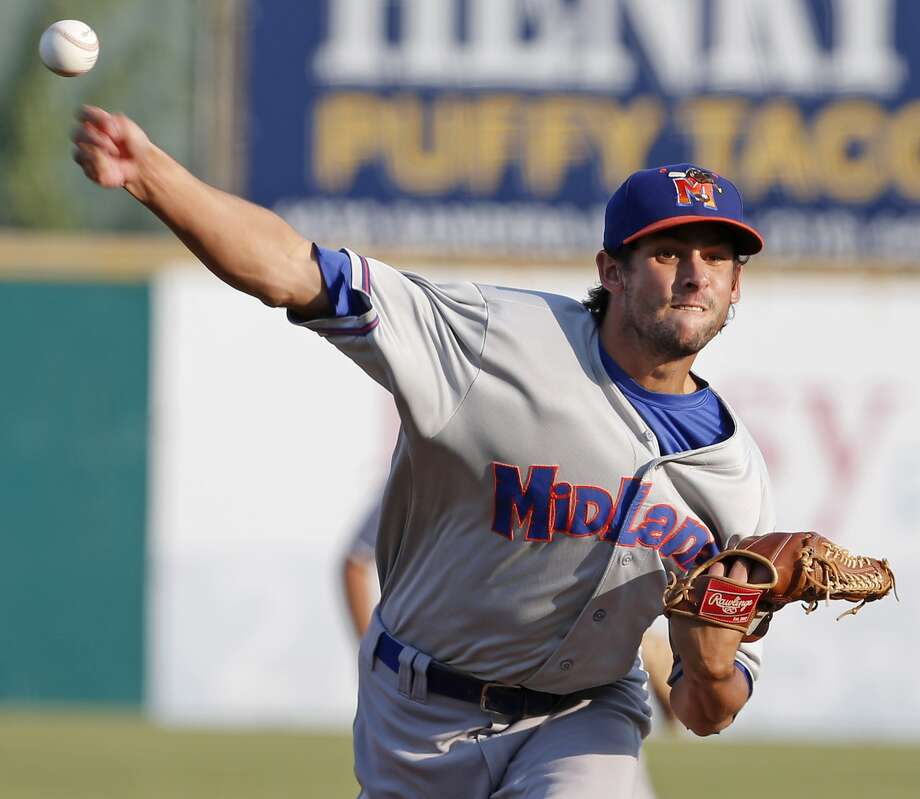 Midland Rockhounds' Joel Seddon pitches against the San Antonio Missions during Game 5 of their Texas League South Division Championship series held Sunday Sept. 10, 2017 at Nelson W. Wolff Municipal Stadium. The Rockhounds won the game 4-1, and won the series. Photo: Edward A. Ornelas/San Antonio Express-News
