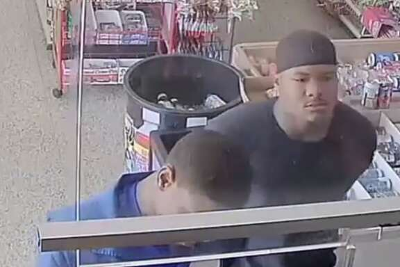 Houston police are looking for two suspects who allegedly shot at a W. Gulf Bank store clerk on Aug. 24 after they felt the price of drinks was to expensive, police said in a report. A third suspect is accused of stealing from the tip jar while the clerk was preoccupied with the other two.