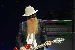 Billy Gibbons of ZZ Top performs during their Tonnage Tour at the Smart Financial Centre in Sugarland Sunday Sept. 10, 2017.(Dave Rossman Photo)