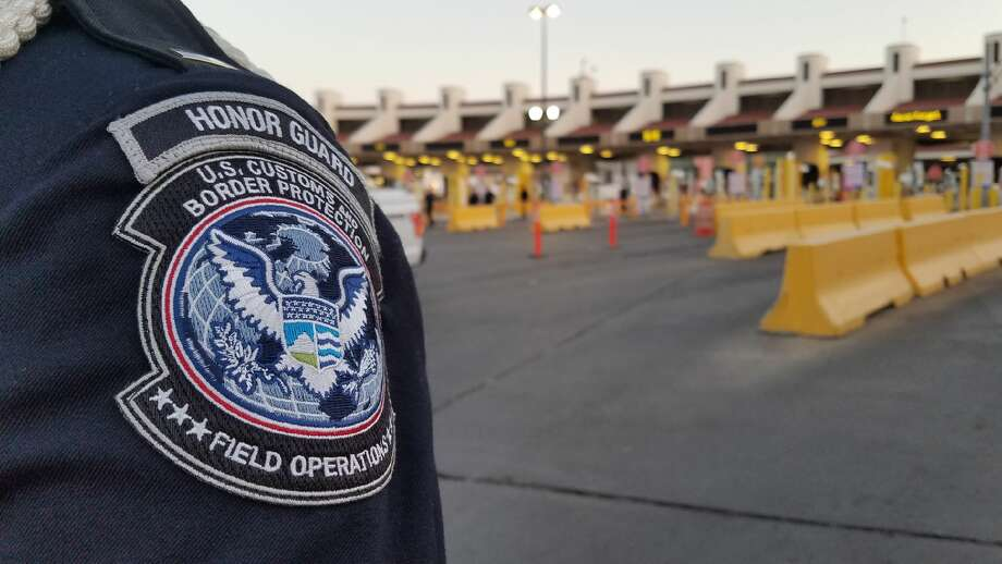 U.S. Customs and Border Protection halted vehicular traffic momentarily to allow authorities to pay homage to those who lost their lives in the terror attack. Photo: Cesar Rodriguez/Laredo Morning Times