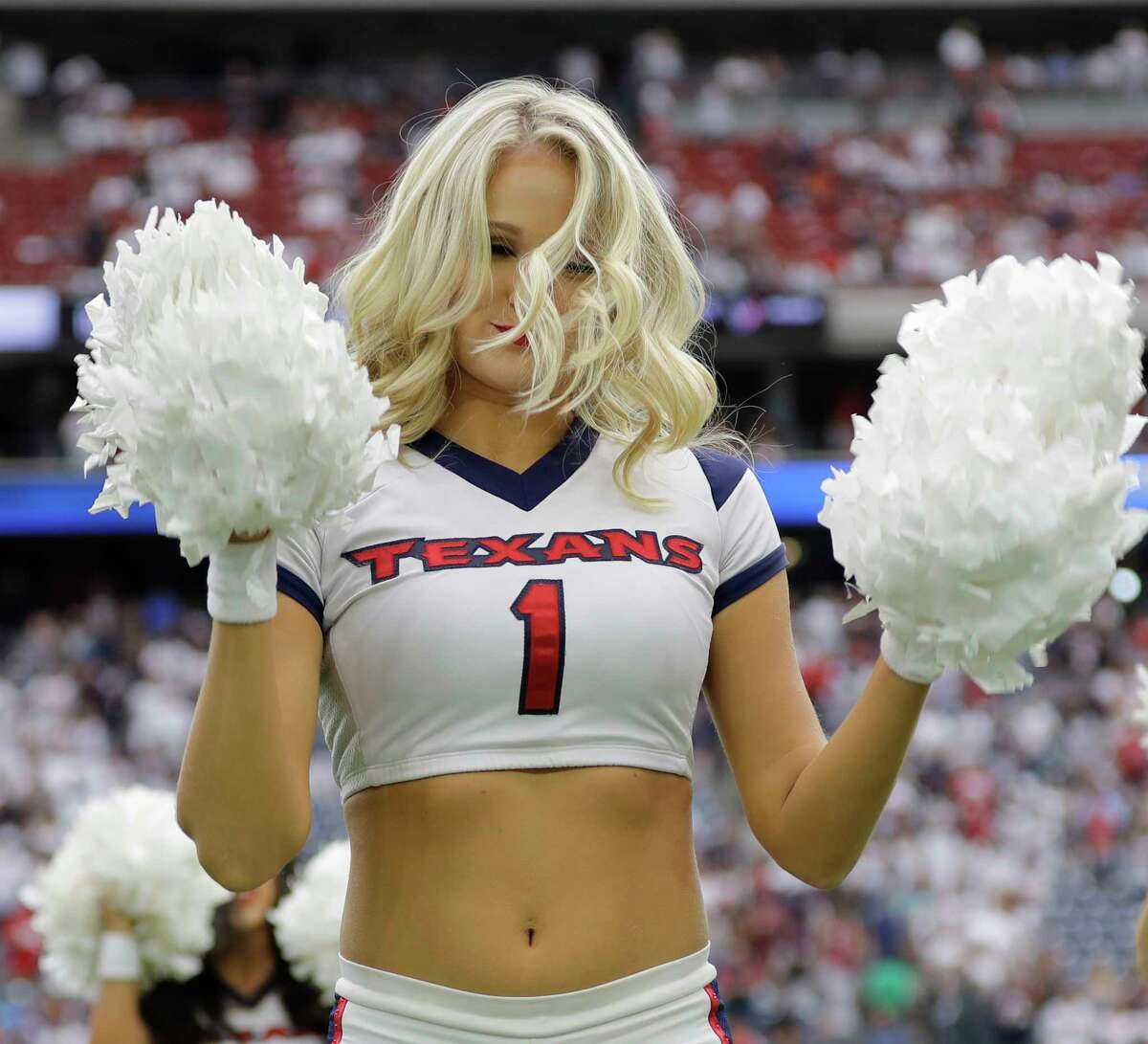 The Houston Texans cheerleaders perform prior to an NFL football game Sunday, Sept. 10, 2017, in Houston. (AP Photo/David J. Phillip)