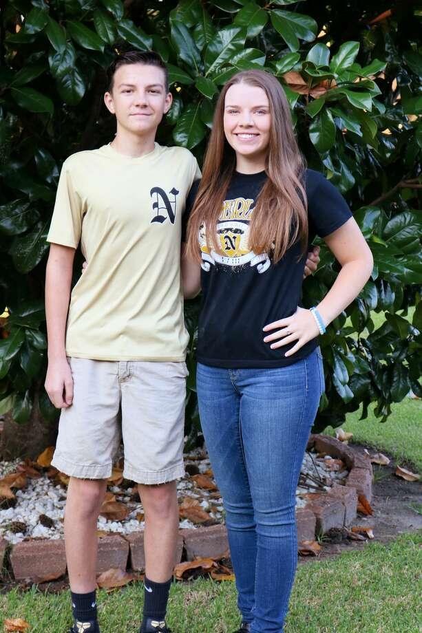 It's tradition at our house to send 1st day of school pics to the Beaumont Enterprise. So on such an emotional day of memories with 9/11 and an emotional time in our nation today with Harvey and Irma, here's a little something that brings a smile to my face.Brennan Meredith, 9th and Hannah Meredith, 11th at Nederland High SchoolPhoto: Diana Meredith Photo: BE