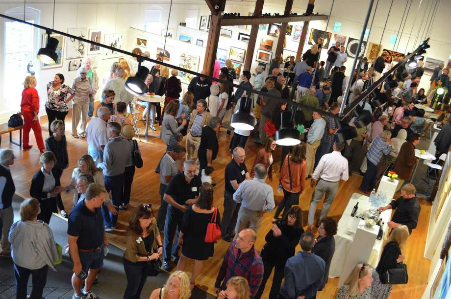 The work of 170 artists was on display at the opening of the Carriage Barn Arts Center's 40th annual Member Show, Sunday, Sept. 10, 2017, in New Canaan, Conn. Photo: Jarret Liotta / For Hearst Connecticut Media / New Canaan News Freelance