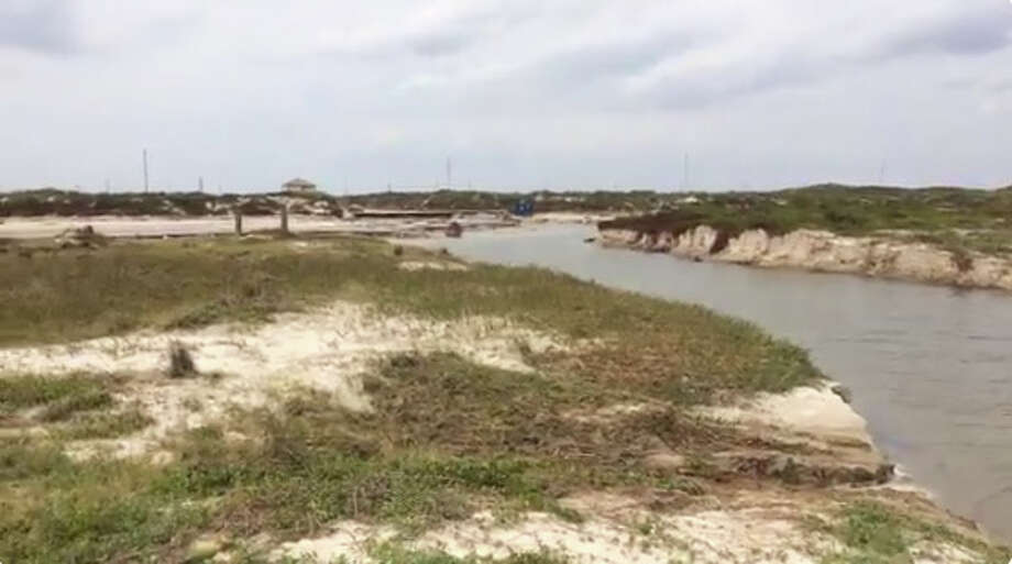 @TPWD: What used to be the walkway from parking lot to the beach at Mustang Island State Park  #Harvey2017 Photo: Texas State Parks