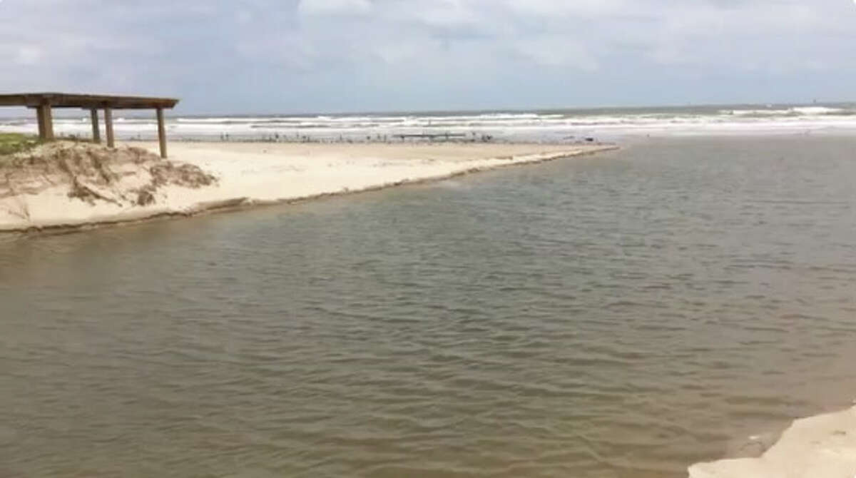 @TPWD: What used to be the walkway from parking lot to the beach at Mustang Island State Park #Harvey2017