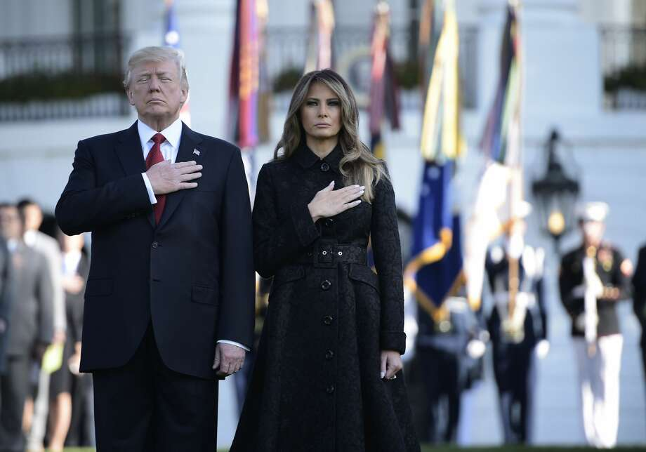 While President Donald Trump paid tribute to the more than 3,000 people who died during the 9/11 attacks, attention was raised over how much he has donated to charities helping victims. Photo: BRENDAN SMIALOWSKI/AFP/Getty Images