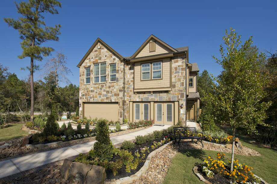 Chesmar Homes is introducing townhome designs to 332-acre Woodridge Forest community northeast of Houston. Photo: Chesmar Homes