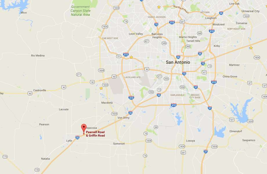 Firefighters responded around 8:30 a.m. on Sept. 11, 2017, to reports of a blaze in the 16600 block of Griffin Road near Pearsall Road. When they arrived, the building was totally engulfed in flames. Photo: Google Maps