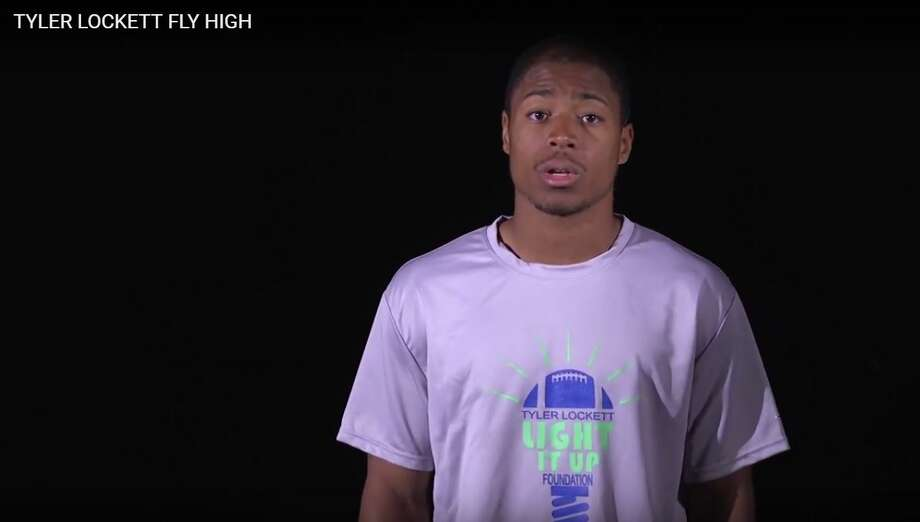 "Seahawks receiver Tyler Lockett performs a spoken-word poem titled ""Fly High"" on his YouTube channel.  Photo: YOUTUBE/TYLER LOCKETT"