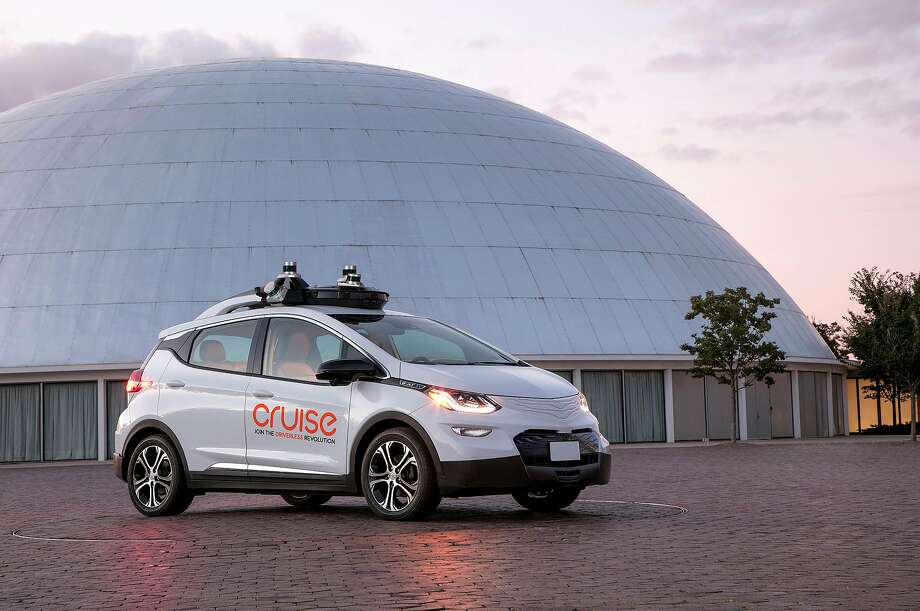 A modified Chevy Bolt outfitted with Cruise hardware and software for self-driving operation. Photo: Cruise Automation, General Motors