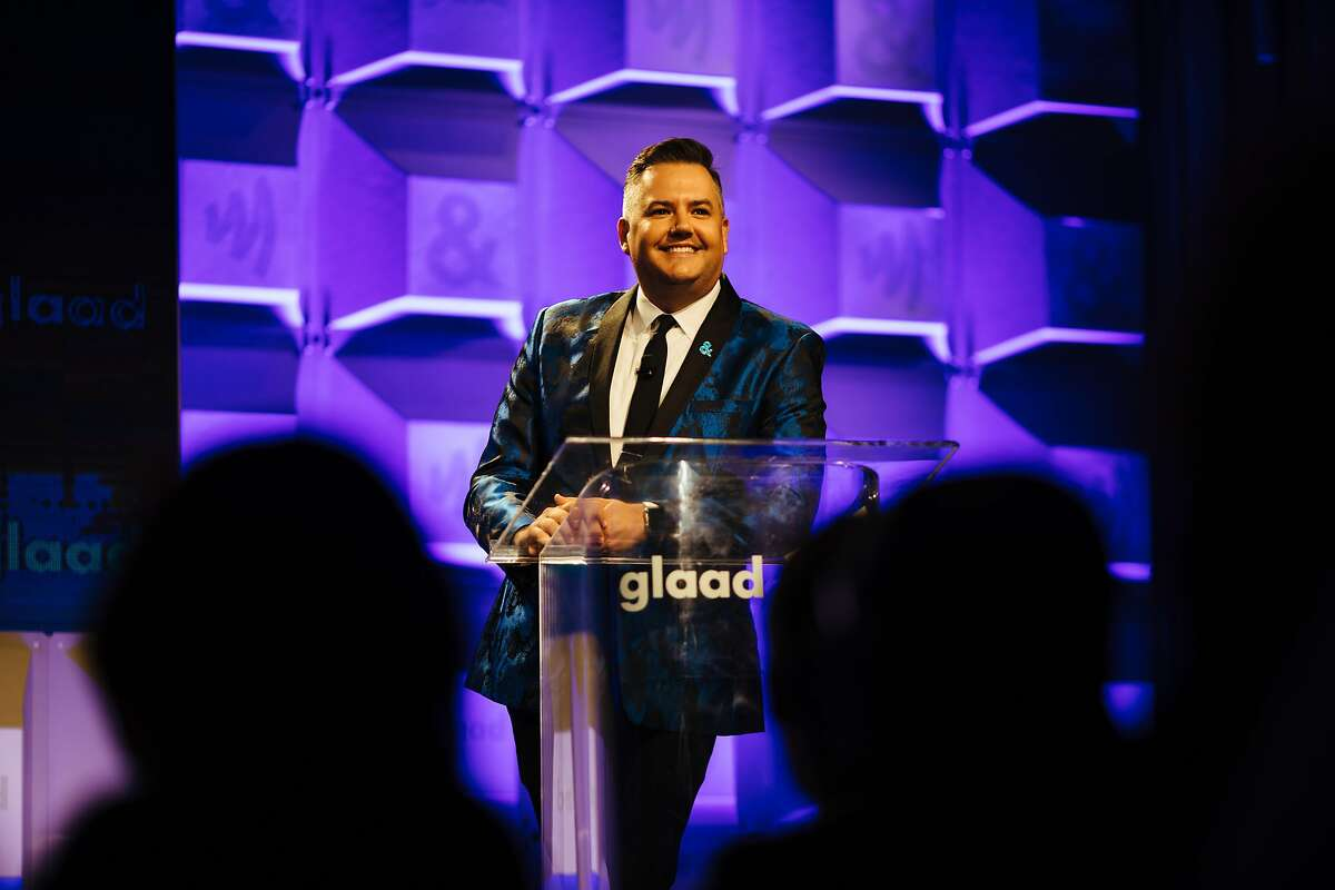 Ross Mathews welcomes attendees during the 2017 GLAAD Gala at the Metreon in San Francisco, Calif. Saturday, September 9, 2017.