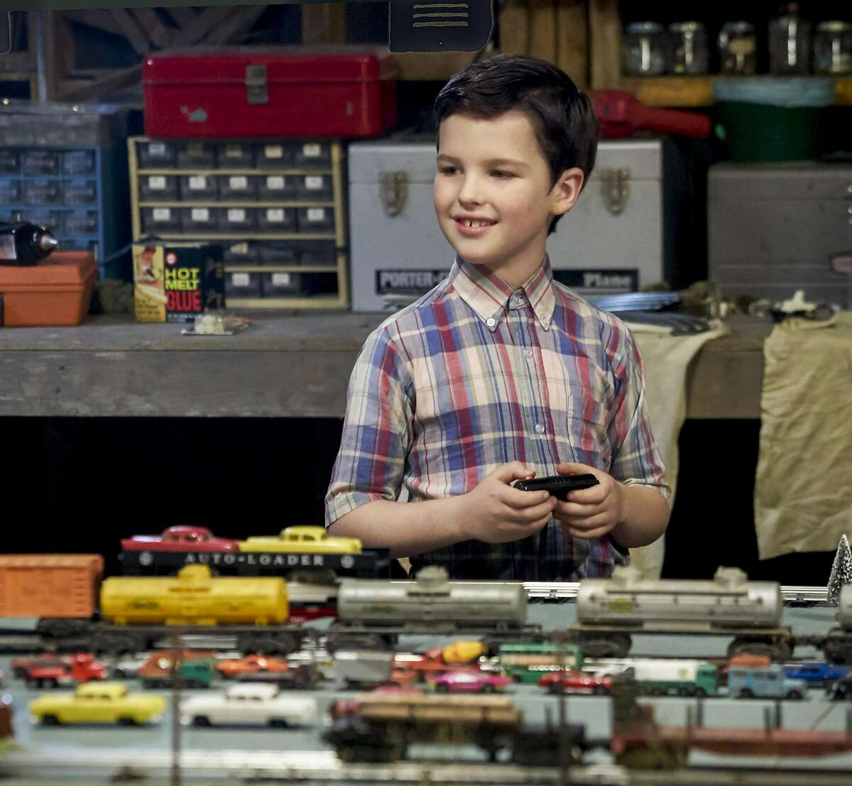 """Iain Armitage plays the young Sheldon Cooper in the CBS sprin-off of """"The Big Bang Theory."""" In """"Young Sheldon"""" he plays the 9-year-old Sheldon who is attending high school. The show has a special premiere on CBS Sept. 25, then lands on its regular timeslot on Nov. 2.(Robert Voets/CBS ENTERTAINMENT)"""