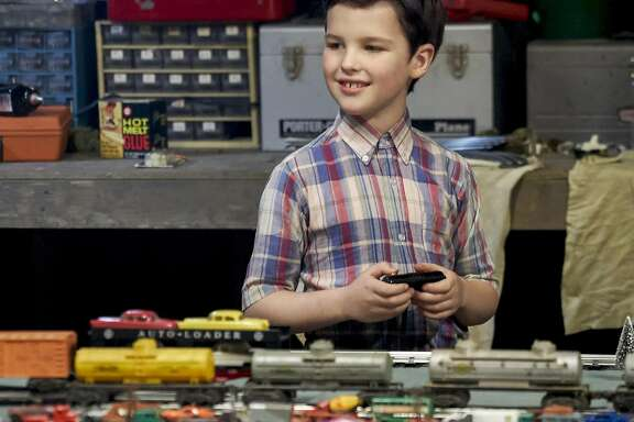 "Iain Armitage plays the young Sheldon Cooper in the CBS sprin-off of ""The Big Bang Theory.""  In ""Young Sheldon"" he plays the 9-year-old Sheldon who is attending high school.  The show has a special premiere on CBS Sept. 25, then lands on its regular timeslot on Nov. 2.(Robert Voets/CBS ENTERTAINMENT)"