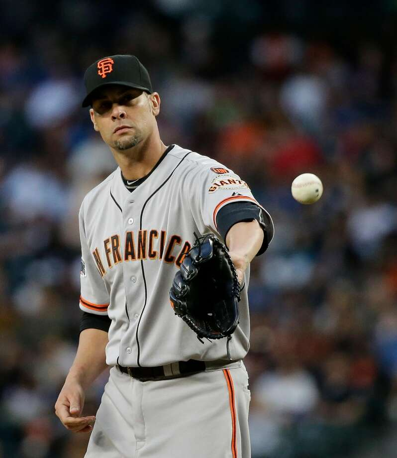 Ryan Vogelsong's intensity — and unwillingness to pitch for the Dodgers — made him a fan favorite in San Francisco. Photo: Elaine Thompson, Associated Press