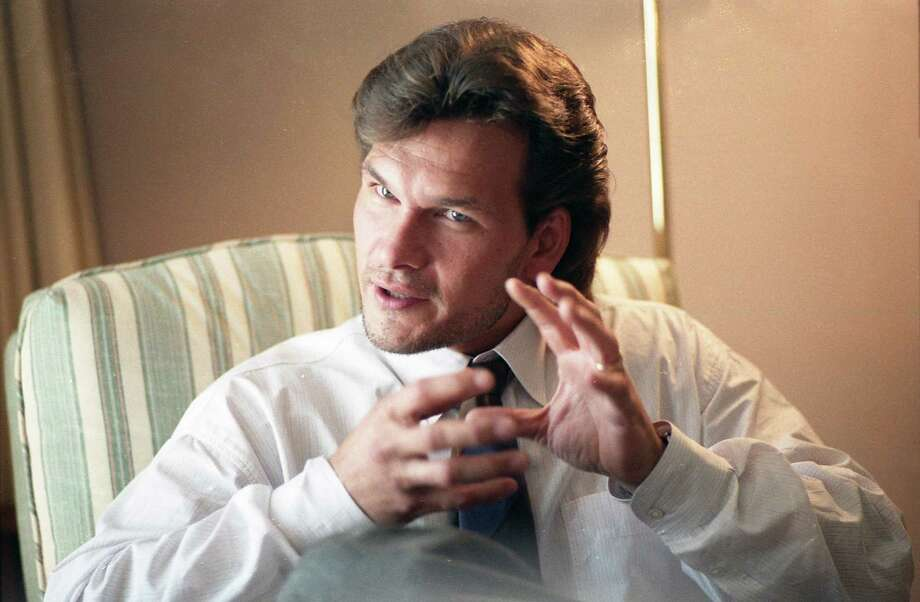 Patrick Swayze at the Remington Hotel, Aug. 10, 1987. Photo: Buster Dean, Houston Chronicle