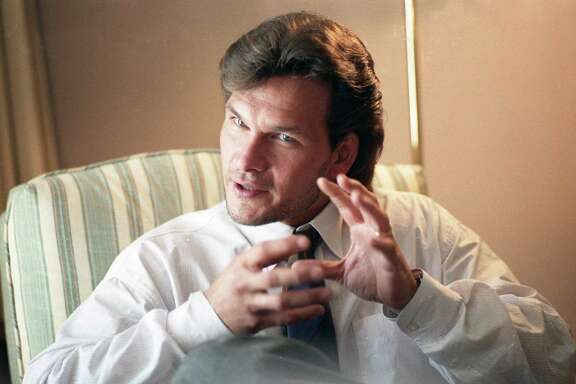 Patrick Swayze at the Remington Hotel, Aug. 10, 1987.