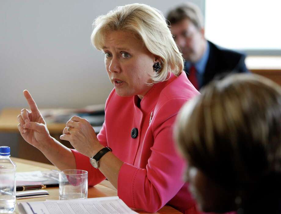 In this 2008 photo, U.S. Sen. Mary Landrieu, D-La, speaks during the Oxfam America Hurricane Katrina recovery roundtable in Denver. (AP Photo/Matt Sayles) Photo: Matt Sayles, STF / AP
