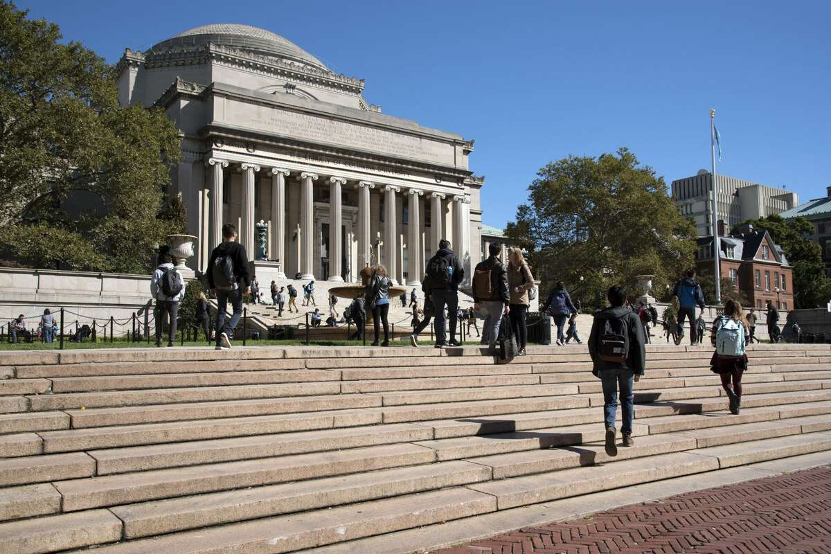 Top National Universities in New York 1. Columbia University New York, NY National rank among national universities: No. 3 (tied with Massachusetts Institute of Technology, University of Chicago and Yale University)
